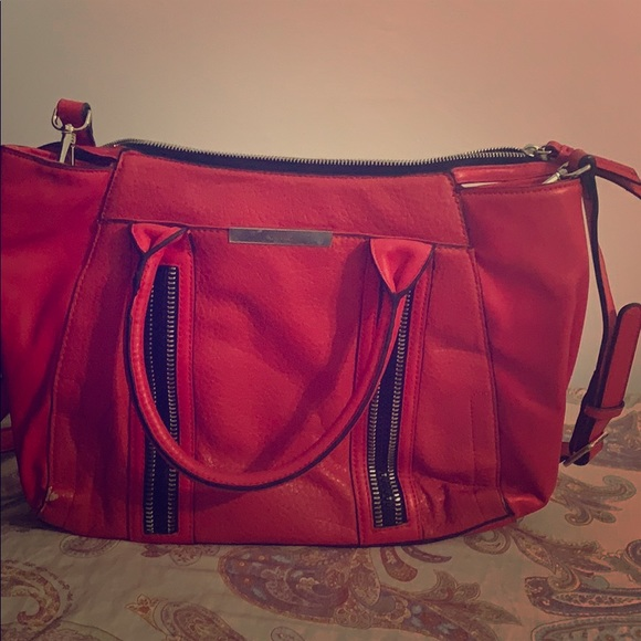 Nine West red hand and side purse
